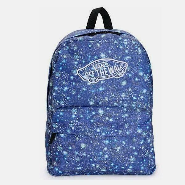 VANS Realm Galaxy Satellite Blue Backpack Book Travel Gym Bag