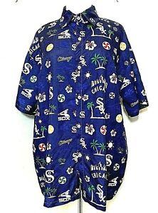 Chicago White Sox Baseball Shirt Hawaiian Button Up Beggars Pizza M