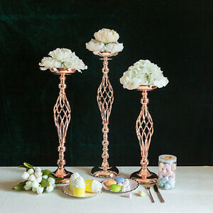 Miraculous Details About 2 Pcs Rose Gold Metal 22 5 Tall Candle Holder Vase Centerpiece Party Decoration Download Free Architecture Designs Scobabritishbridgeorg