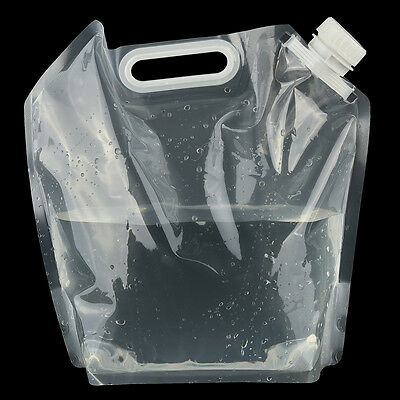 5L Portable Folding Clear Water Bag Camping Hiking Survival Tool Kit Supply SS