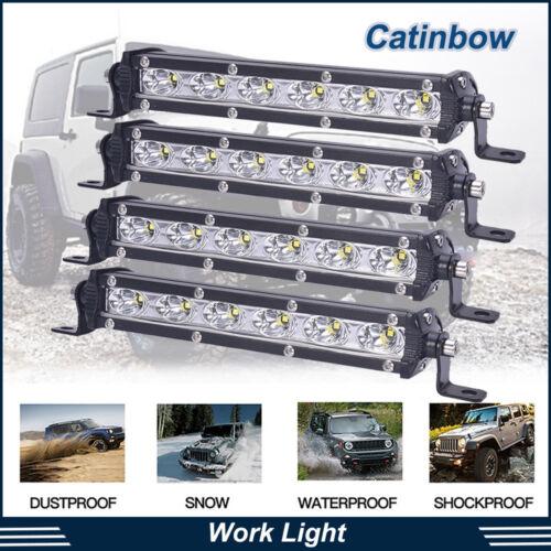"4x 7/""inch 18W CREE 6 LED Light Bar Flood Spot Work Fog Driving Offroad 4WD Truck"