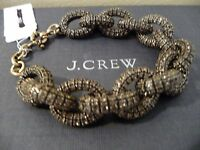 J.crew Classic Pave Link Plated Roasted Acorn Bracelet,48738, $125