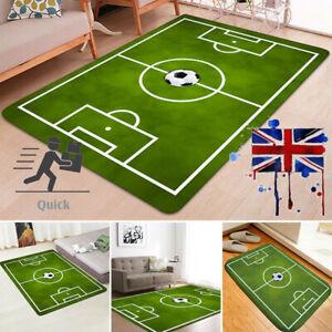 Soft Green Football Soccer Pitch Rug