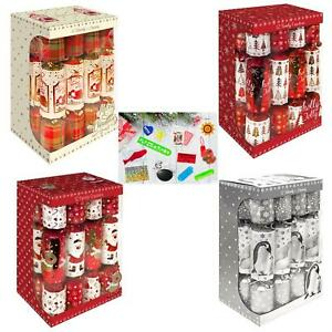 Christmas-Pack-of-12-Family-Crackers-30cm-Choose-Design