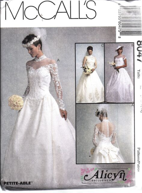 Mccall\'s 8047 Misses Alicyn Bridal Wedding Gowns Dresses Sewing ...