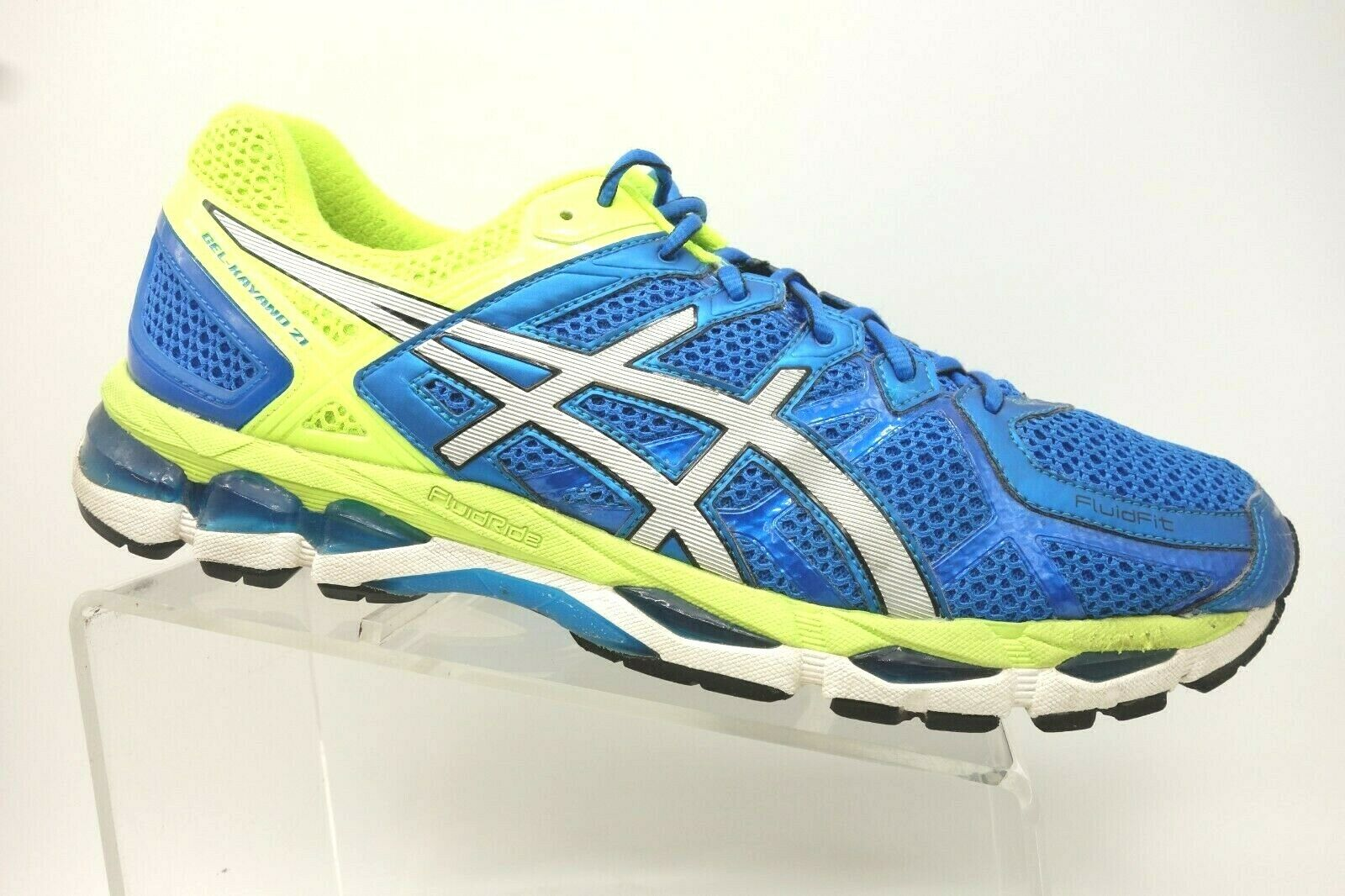 Asics Gel Kayano 21 Blue Mesh Lace Up Athletic Sport Running Shoes Men's 13