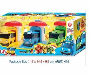 TAYO the Little Bus Shooting 3 Cars Set Garage