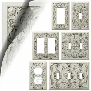 Image Is Loading Antique White Filigree Switch Plate Cover Arabesque Wallplate