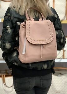Image is loading MICHAEL-KORS-RILEY-LARGE-BACKPACK-LEATHER-PASTEL-PINK acab18f50b84b