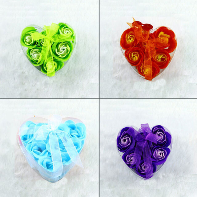 Creative Bath Body Flower Heart Favor Soap Petal Wedding Decoration Party Gift