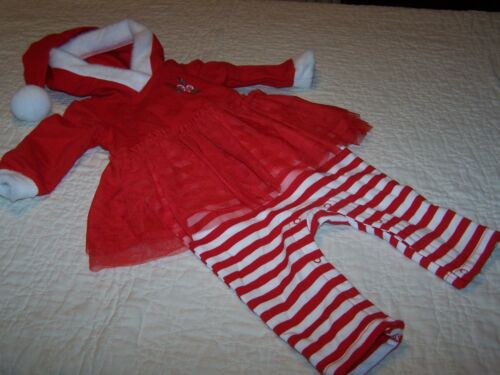Baby Girl~0-3 Mos~Red Hooded Christmas//Holiday Outfit~Cat /& Jack~NWOT