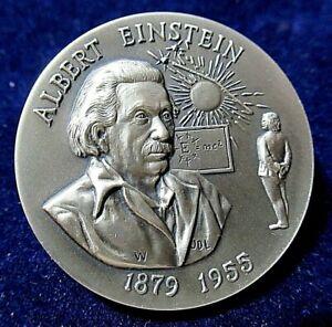 The-Albert-Einstein-1879-1955-Silver-Medal-Gorgeous-Deep-Engraving-1-1-Ozt