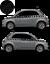 Fiat-500-Autocollant-Bandes-Stickers-adhesifs-decoration-couleur-au-choix miniatura 1