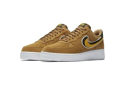 Da Uomo Nike Air Force 1 07 LV8 in pelle scamosciata sabbia Giallo Marrone 823511 204 UK 12 EU 47.5 | eBay