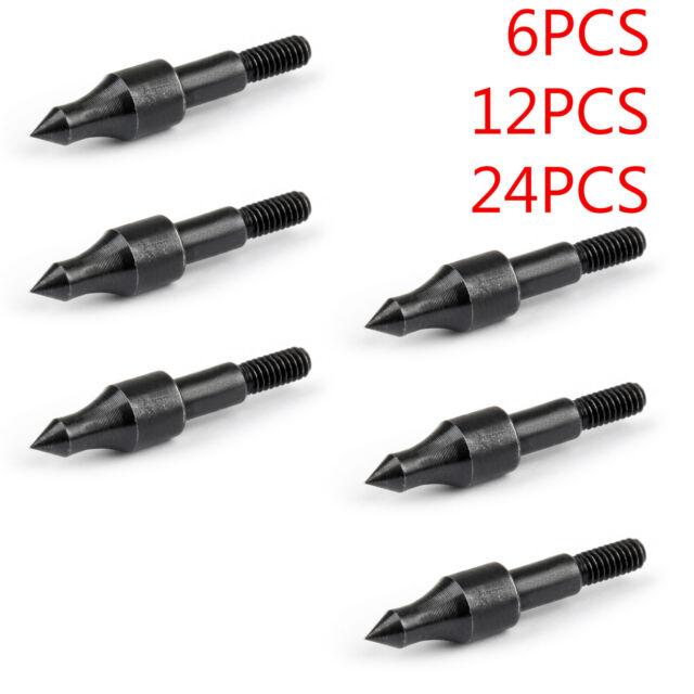 6 PC 125 GRAIN BLUNT ARCHERY ARROW POINTS BLUNTS TIPS BOW NEW SCREW ON POINT