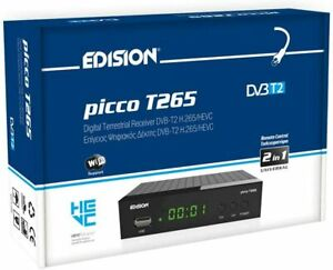 Edision PICCO T265, Full High Definition DVB-T2, H265 HEVC 10 digitale terrestre