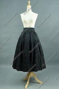 Victorian Edwardian 1900s Jacquard Midi Wiccan Skirt Steampunk Punk Costume K036