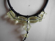 Kautschukband Modeschmuck Kette Halskette  Acryl-Perlen Karabiner 46 cm x 6 mm
