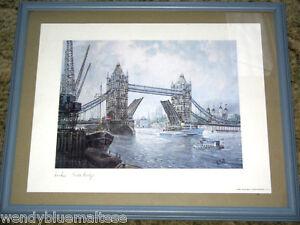 London-Tower-Bridge-by-H-Moss1988-England-Framed-Print-55x45cm-Excel-Detail