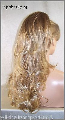 Long Layered Blonde Strawberry #27.24 Drawstring ponytail piece hair fall slw