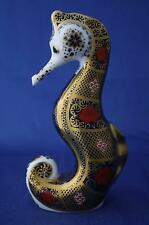 ROYAL CROWN DERBY OLD IMARI SOLID GOLD BAND SEAHORSE PAPERWEIGHT - NEW / BOXED