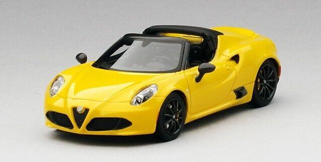 Alfa Romeo 4C Spider Gelb Prototipo True Scale Miniatures 1 43 TSM164383