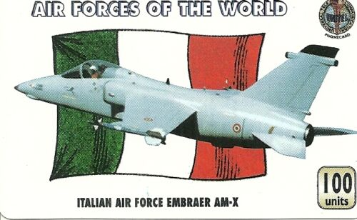 RARE / CARTE TELEPHONIQUE - ITALIE AIR FORCE EMBRAER AM-X / PAPER PHONECARD