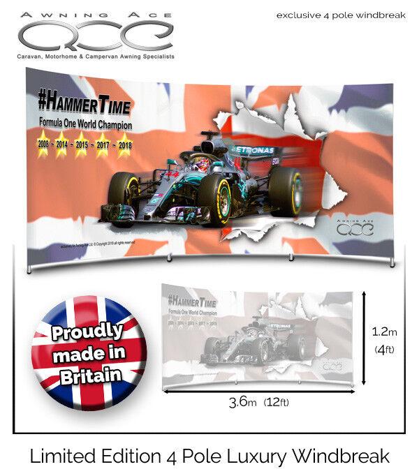 Lewis Hamilton Campeón Mundial de F1 Edición Limitada Parabrisas  Cortaviento  ¡no ser extrañado!