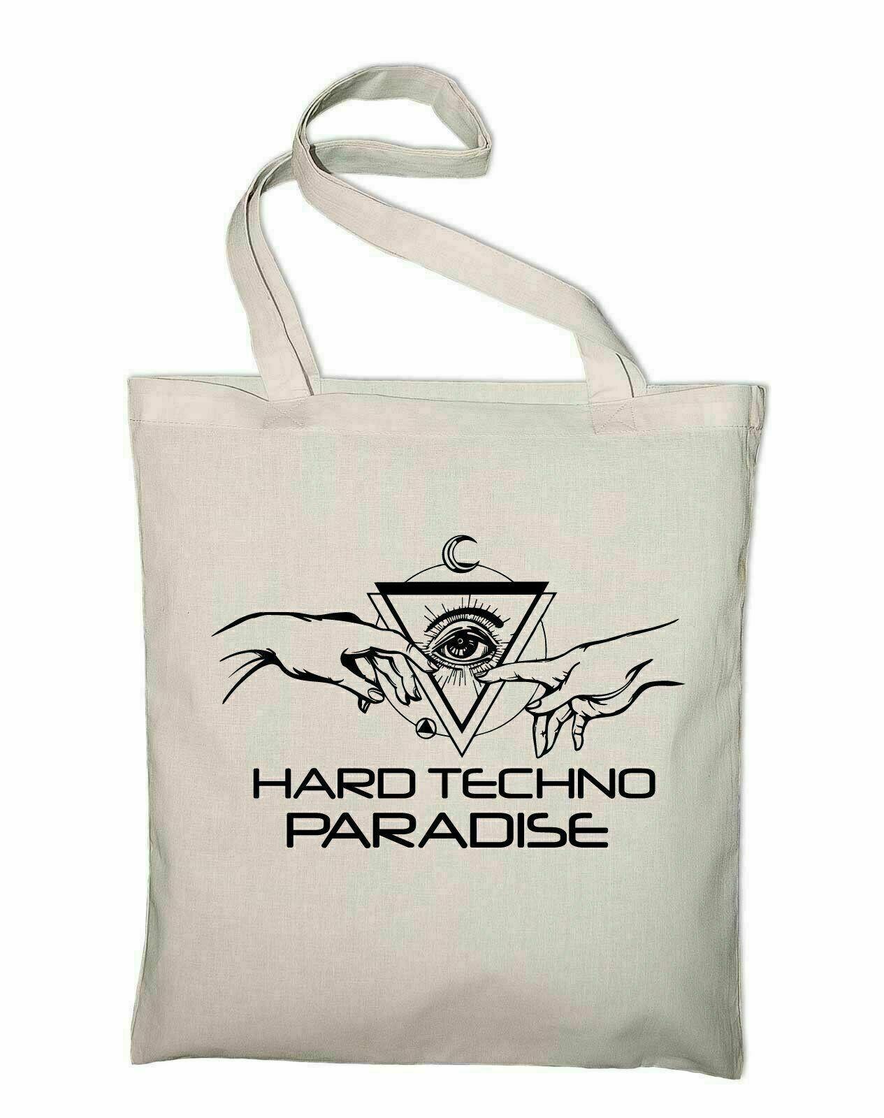 Hard Techno Paradise Jute Bags Genesis Schranz DJ RAVE house hardcore Bags