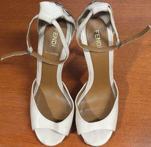 negozio online outlet Fendi Fendi Fendi Open Toe Light rosa High Heel Dimensione 38  esclusivo