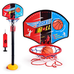 Fj-LN-UK-Regolabile-Mini-Canestro-da-Basket-Stand-Esterni-Sports-Giochi-Ki