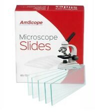 Amscope 72 Pre Cleaned Blank Microscope Slides Science School Open Box Not Used