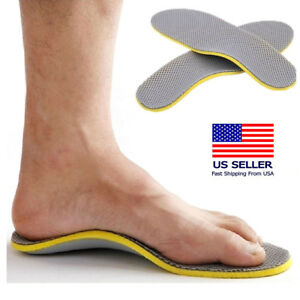 a18419dda437a Details about Comfort Orthotic Arch Support Shoes Insoles Pads Cushion Pain  Relief Foot Care