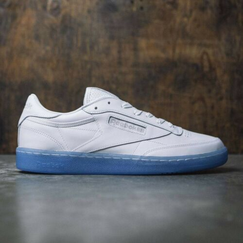 Reebok Classic Mens CLUB C 85 ICE Shoes White//Steel-Ice Blue BD1671 UK 6 to 11.5