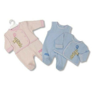 2-Pieces-Newborn-Baby-Matching-Outfit-Dungaree-amp-Embroidered-Jacket-Blue-or-Pink
