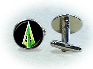 Green-Arrow-Cufflinks-or-Tie-Clip-Superhero-Cufflinks