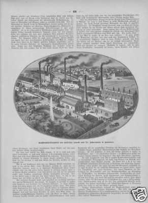 Effizient Buchdruckfarbenfabrik Jänecke Hannover Stiche Von 1885