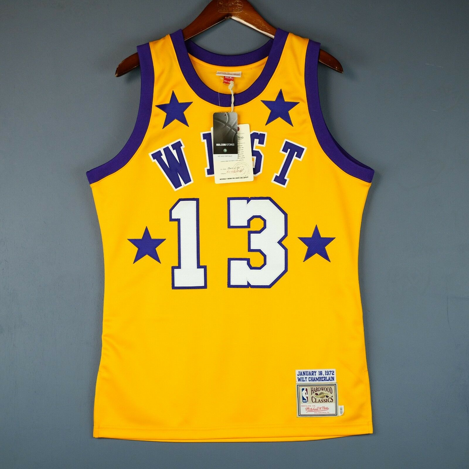 100% Authentisch Wilt Chamberlain Mitchell & Ness Ness Ness 1972 All Star Trikot Größe 40 af819f