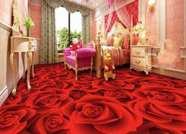 3D ROT Rose 933 Floor WallPaper Murals Wall Print Decal AJ WALLPAPER US Summer