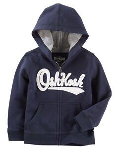 2bb534512c OshKosh B Gosh Infant Boys Zip-Up OshKosh Logo Hoodie - Navy Blue ...