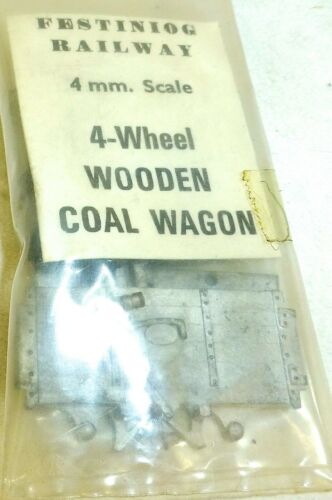 4 Wheel Wooden Coal Wagon 4mm Scale Festiniog Railway 4mm KIT å *