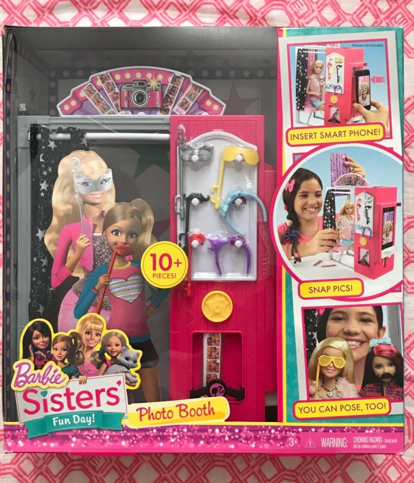Nuevo duro encontrar Malibu Barbie la vida en el Dreamhouse Muñeca Hermanas Playset Cabina De Fotos