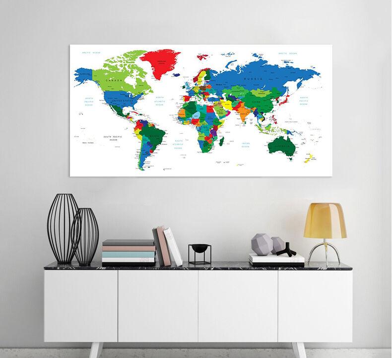 3D Saubere Farb Weltkarte 756   Fototapeten Wandbild BildTapete AJSTORE DE Lemon
