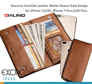 Genuine Cowhide Leather Wallet Style Case for iPhone11 12 Pro Max iPhoneX XR XS