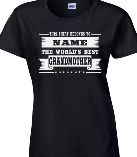 Grandmother Ladies Personalised T-Shirt Best Granny Nan Relative Family Gift