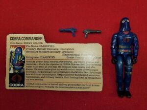 GI Joe Vintage 1984 Hooded Cobra Commander Figure Mail Away Complete Filecard