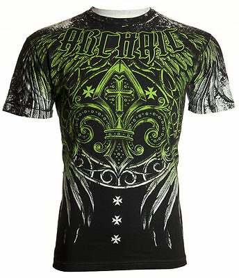 ARCHAIC by AFFLICTION Mens T-Shirt WRECKAGE Wings Biker UFC American Fighter $40