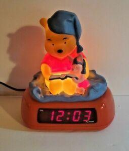 Vintage Winnie the Pooh & Piglet Fantasma Alarm Clock & Night light Tested Works