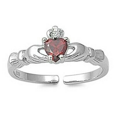 Genuine Sterling Silver Claddagh Toe Ring