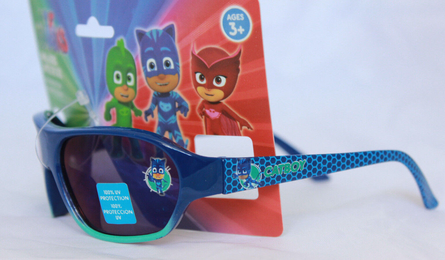 4c9eea28e79 PJ Masks Connor Catboy Gekko Boys Sunglasses 100 UV Protection Kids ...